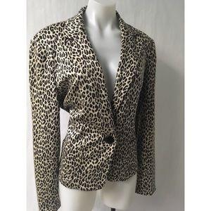 Cheetah Print Blazer Size 18